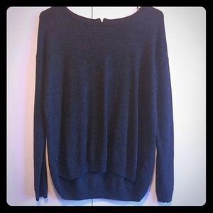 H&M Dark Grey Zip- Back Sweater